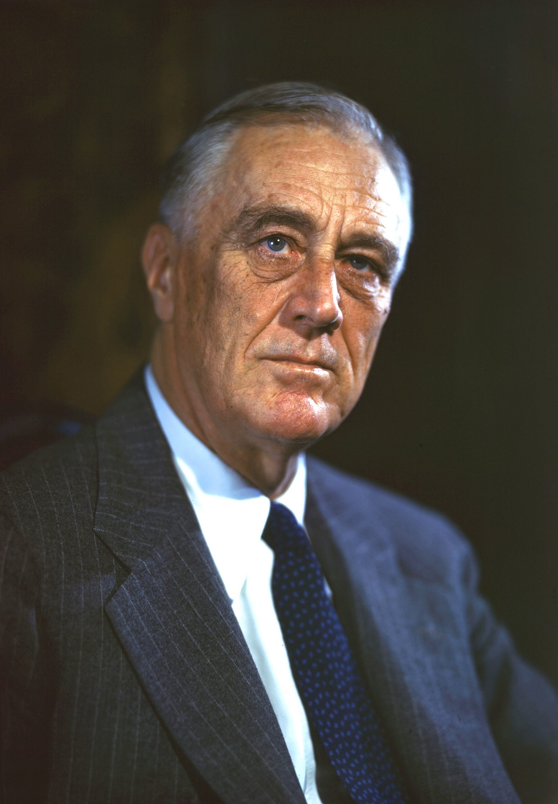 Color portrait of Franklin Delano Roosevelt